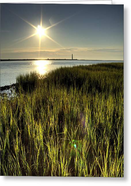 Marsh Grass Sunrise Greeting Card