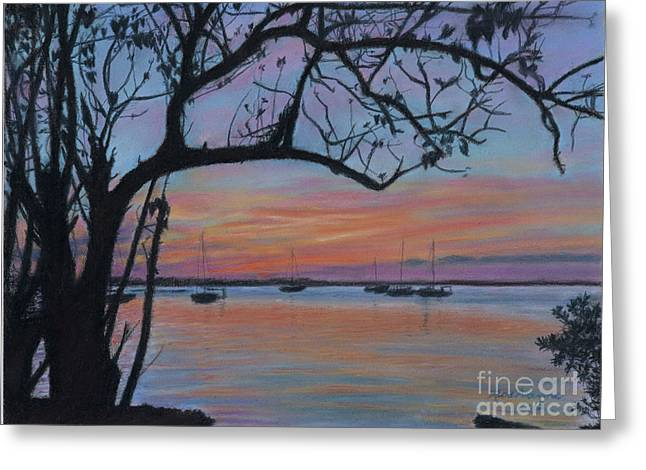Marsh Harbour At Sunset Greeting Card