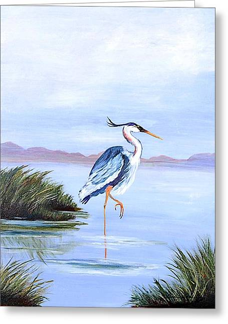 Marsh King Greeting Card by Shirley Lawing