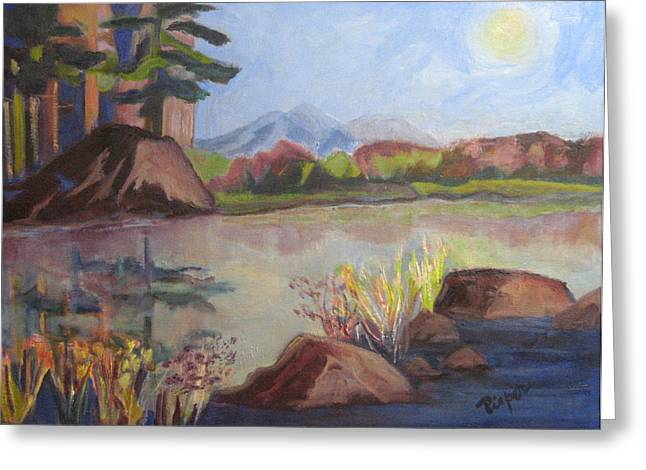 Greeting Card featuring the painting Marsh Land by Betty Pieper