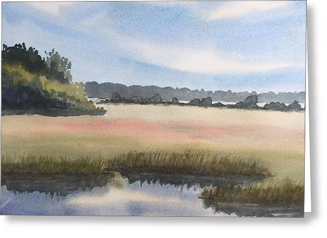 Marsh Greeting Card by Peggy Poppe