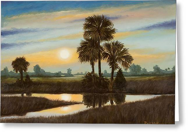 Marsh Sunset Greeting Card by Rick McKinney
