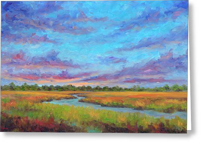 Marsh View From Morris Island - Folly Beach Greeting Card