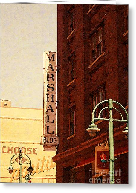 Marshall Bldg Greeting Card
