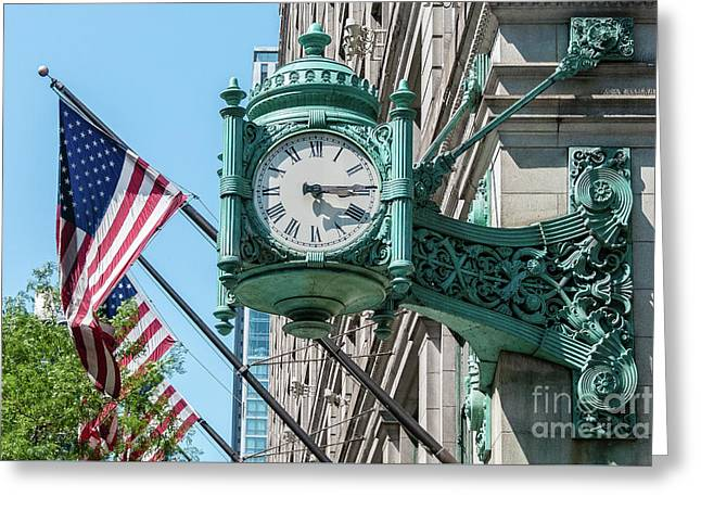 Marshall Field's Clock Greeting Card