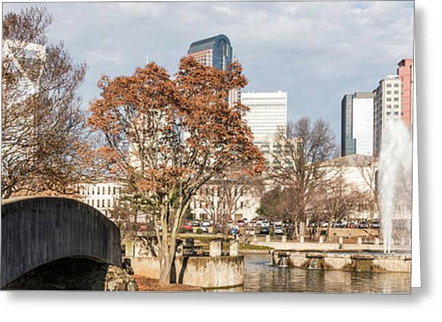 Marshall Park Charlotte Panorama Photo Greeting Card by Paul Velgos