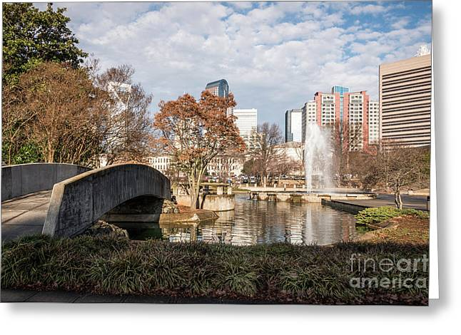 Marshall Park In Charlotte North Carolina Greeting Card by Paul Velgos