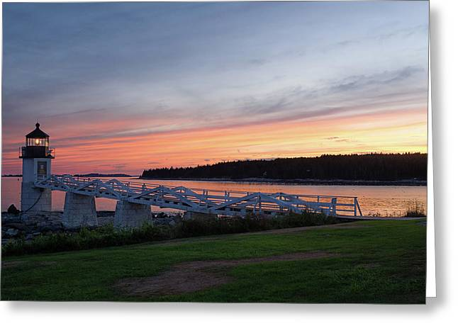 Marshall Point Lighthouse, Port Clyde, Maine -87444 Greeting Card
