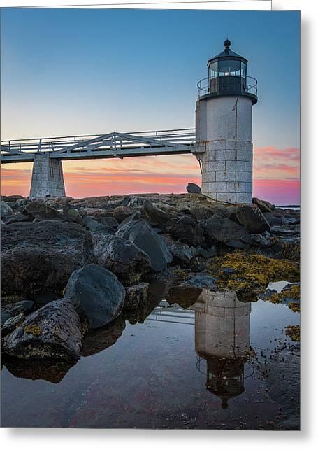 Marshall Point Reflection At Sunrise Greeting Card