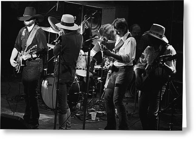 Marshall Tucker Band With Jimmy Hall 3 Greeting Card by Ben Upham