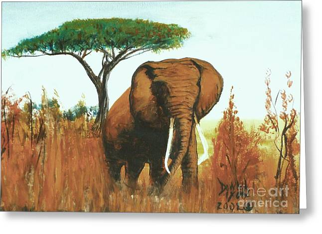 Marsha's Elephant Greeting Card