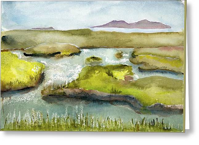 Marshes With Grash Greeting Card