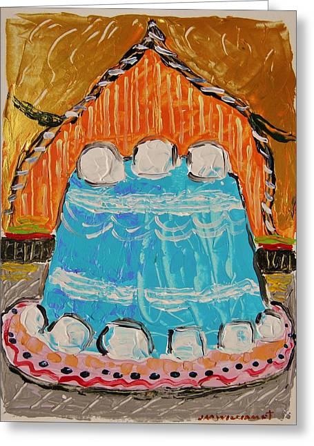 Marshmallow Cake Greeting Card by John Williams