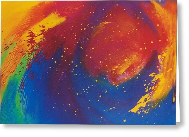 Best Sellers -  - Stellar Paintings Greeting Cards - Marte Greeting Card by Carla Cerrato