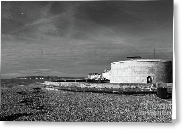Martello Tower Number 74 Seaford Sussex Greeting Card by James Brunker