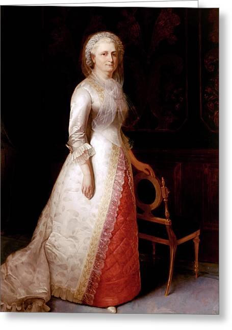 Martha Custis Washington Greeting Card by Mountain Dreams