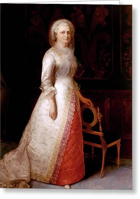 Martha Dandridge Custis Washington Greeting Card
