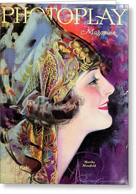 Martha Mansfield, Photoplay July 1920 Greeting Card by Sarah Vernon
