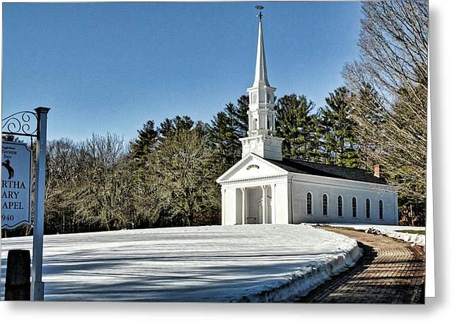 Martha Mary Chapel In Winter Greeting Card by Bill Dussault