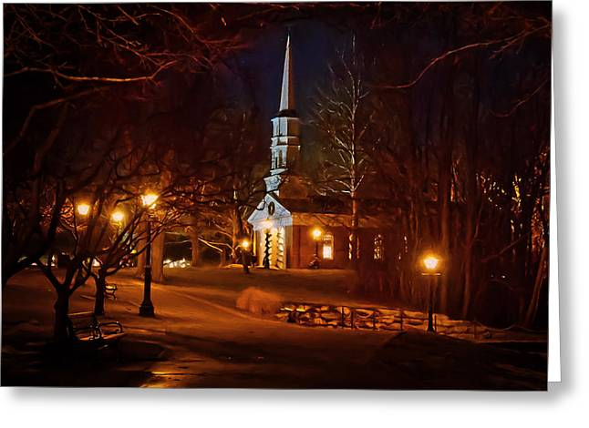 Martha Mary Chapel Greeting Card by Susan Rissi Tregoning
