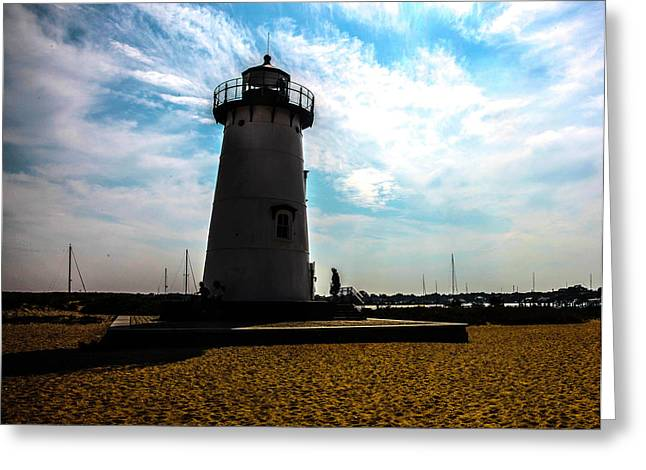 Greeting Card featuring the photograph Martha's Vineyard Lighthouse - Massachusetts by Madeline Ellis