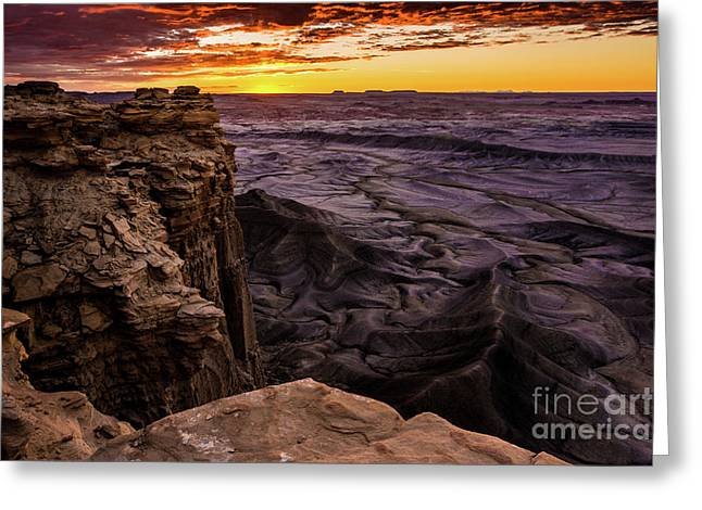 Martian Landscape On Earth - Utah Greeting Card by Gary Whitton