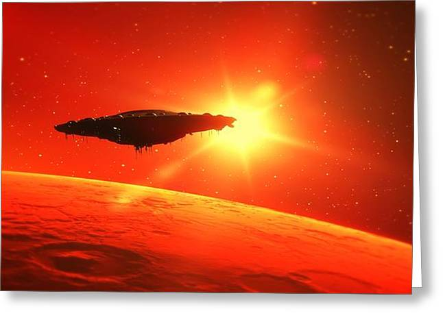 Martian Voyage By Raphael Terra Greeting Card
