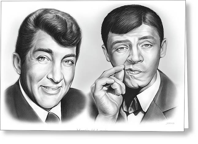 Martin And Lewis Greeting Card