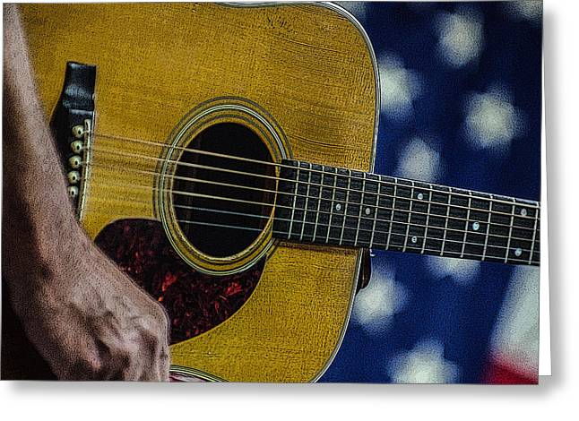 Greeting Card featuring the photograph Martin Guitar 1 by Jim Mathis