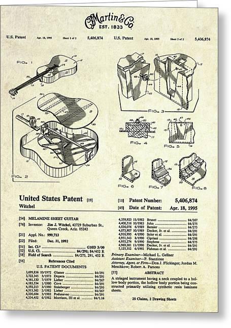 Martin Guitar Patent Art Greeting Card