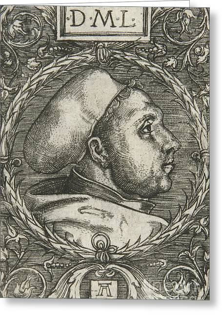 Martin Luther, 1521 Greeting Card