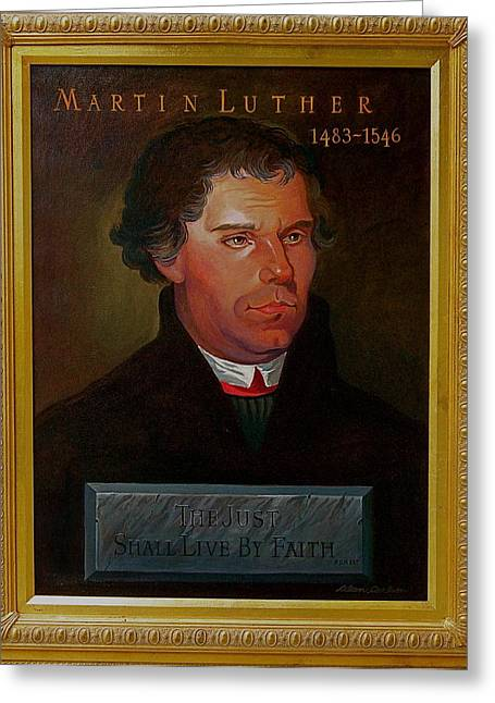 Martin Luther Greeting Card by Alan Carlson
