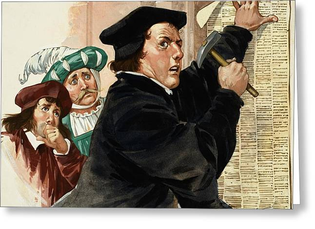 Martin Luther Greeting Card by Angus McBride