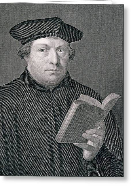 Reform Greeting Cards - Martin Luther Greeting Card by Hans Holbein