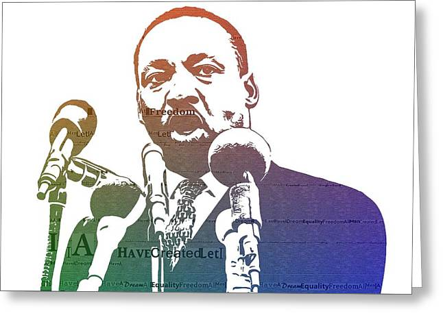 Martin Luther King Jr Greeting Card by Dan Sproul