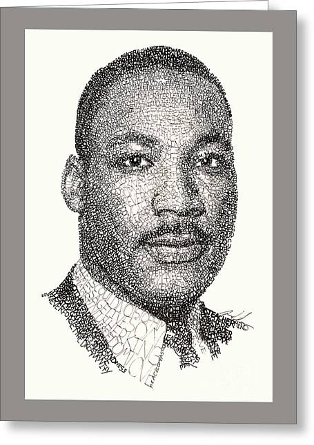 Martin Luther King Jr Greeting Card by Michael Volpicelli