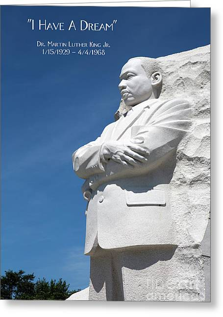 Martin Luther King Jr. Monument Greeting Card