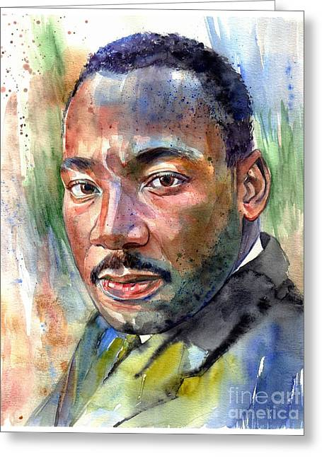 Martin Luther King Jr. Painting Greeting Card