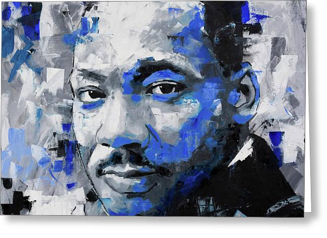 Greeting Card featuring the painting Martin Luther King Jr by Richard Day