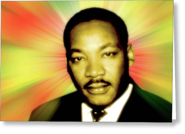 Martin Luther King Jr Greeting Card by Stephanie Brock