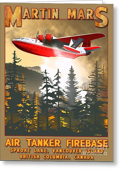 Martin Mars Air Tanker Greeting Card