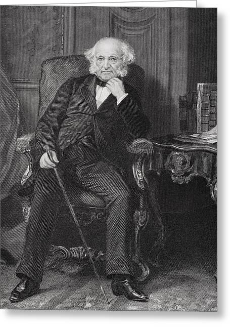 Martin Van Buren 1782 To 1862. 8th Greeting Card by Vintage Design Pics