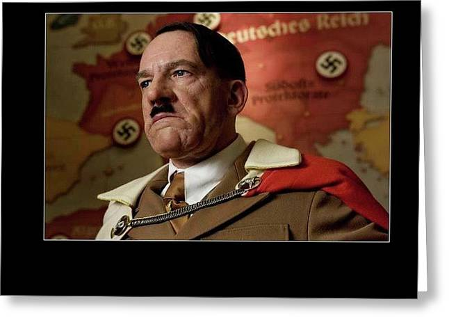 Martin Wuttke As Adolf Hitler Number Two Inglourious Basterds 2009 Frame Added 2016 Greeting Card by David Lee Guss