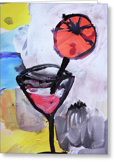 Martini And Orange Greeting Card