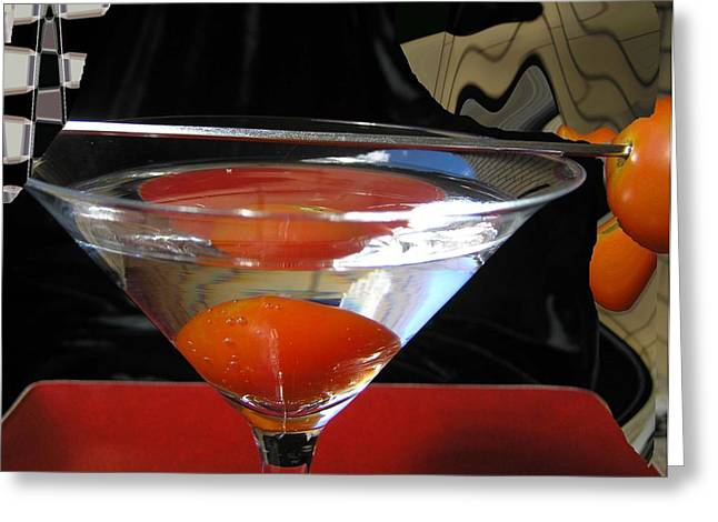 Martini Fantazy1 Greeting Card by Evguenia Men