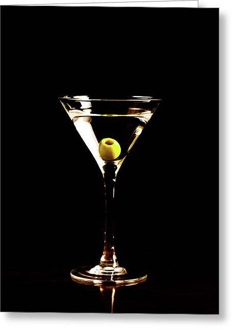Martini For You, Madame Greeting Card by Vadim Goodwill