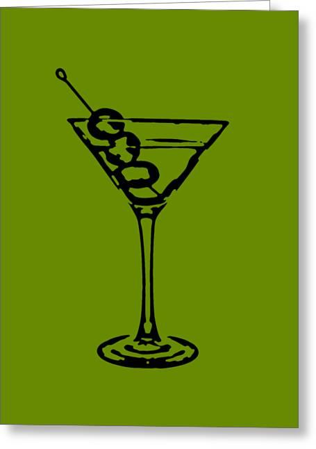 Martini Glass Tee Greeting Card by Edward Fielding