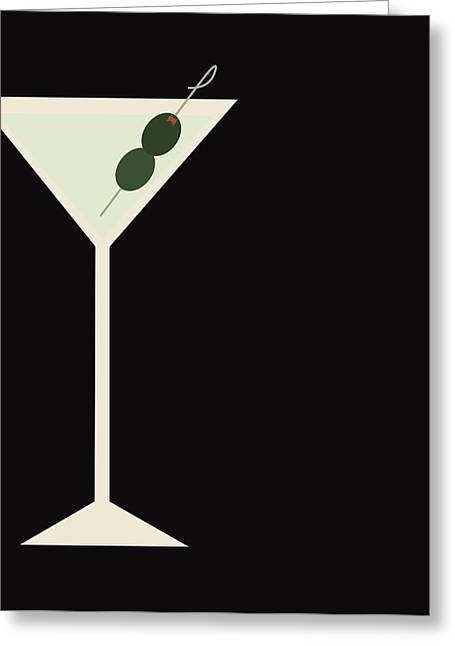 Martini Greeting Card by Julia Garcia