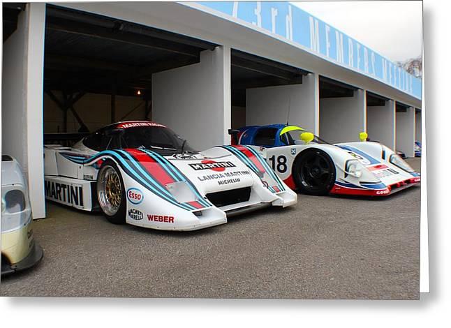 Martini Le Mans Greeting Card by Robert Phelan