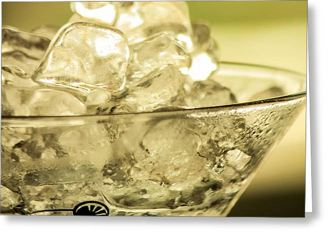 Martini On Ice Greeting Card by Rene Triay Photography
